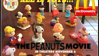 The PEANUTS Movie MCDONALDS Happy Meal Toys October 2015! All 12!!!