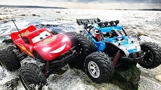 Monster Truck Lightning McQueen - Тачки 2 - Cars 2 Off Road RC Monster Car Videos for Children