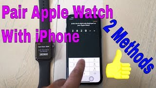 Apple Watch Won't Pair With iPhone [Fixed]- Pair Manually Using PIN or Passcode