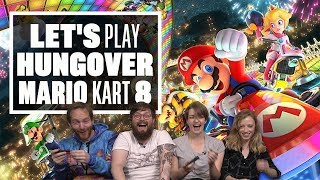 Let's Play Hungover Mario Kart 8 - Mario Kart Switch Multiplayer Gameplay