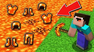 Minecraft NOOB vs PRO:ONLY WITH THIS PICKAXE NOOB CAN MINE RAREST LAVA ARMOR Challenge 100% trolling