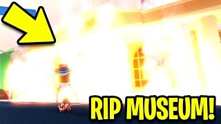 I BURNED the MUSEUM to the GROUND!! (Asimo3089 Don't Ban Me)   Roblox Jailbreak New Update