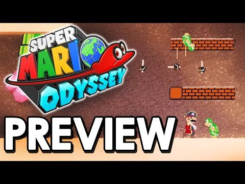 Super Mario Odyssey Old School 2D Section and Volleyball - Exclusive Gameplay