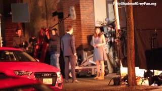Jamie Dornan and Dakota Johnson (+ Max Martini) - FSOG HD BTS