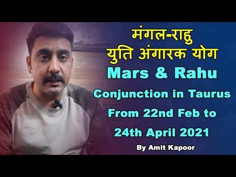 मंगल-राहु युति अंगारक योग| Mars & Rahu Conjunction in Taurus ♉ From 22nd Feb to 24th April 2021