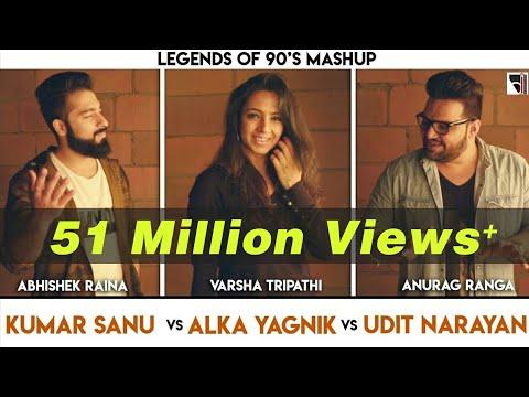 Legends of 90's Bollywood Songs Mashup | Anurag Ranga | Abhishek Raina | Varsha Tripathi | 90's hits