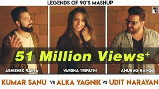 Legends Of 90's Bollywood Songs Mashup | Anurag Ranga | Abhishek Raina | Varsha Tripathi | 90's Hits