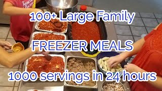 100+ Large family FREEZER MEALS...1000 servings in 24 hours?!?!?