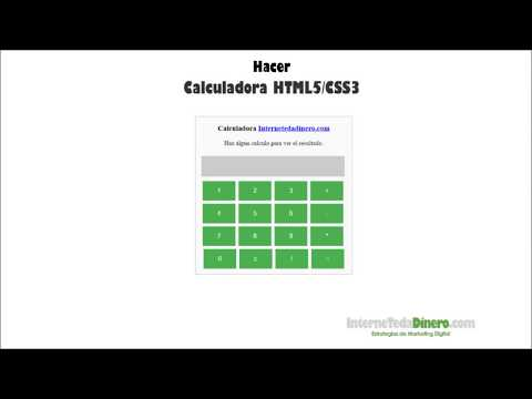 Calculadora HTML y CSS - YouTube