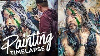 Time Lapse Expressive Figure Painting Of My Husband - Studio Sneak Peek 12 - Paul Richmond Studio