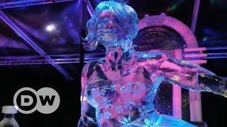 Esculturas de gelo incríveis em festival na Holanda