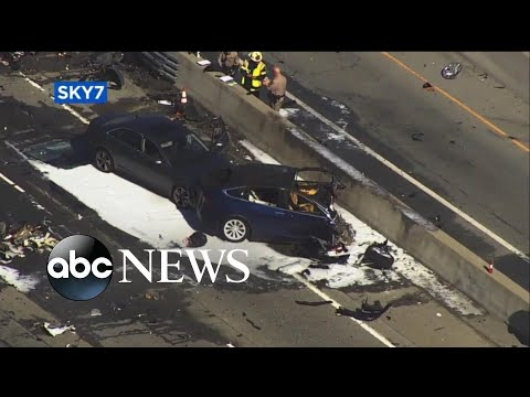 Deadly crash with Tesla vehicle on auto pilot