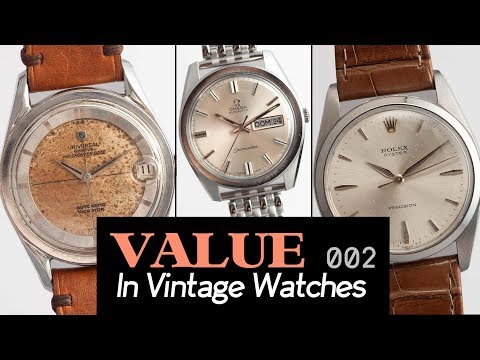 Value In Vintage Watches: Rolex Oyster Perpetual, Omega Day-Date & more!!
