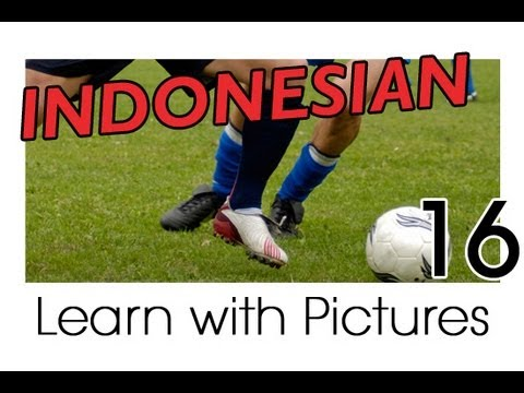Learn Indonesian Vocabulary With Pictures - Play Ball! Sports Names In Indonesian
