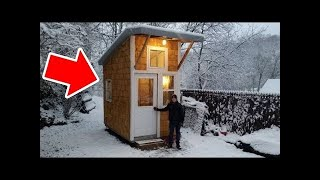 13yr Old builds his own tiny house Video