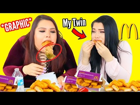 100 Chicken Nugget Challenge WITH MY TWIN!