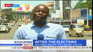 Calm returns to Kisumu after a spate of chaos in different regions in the county