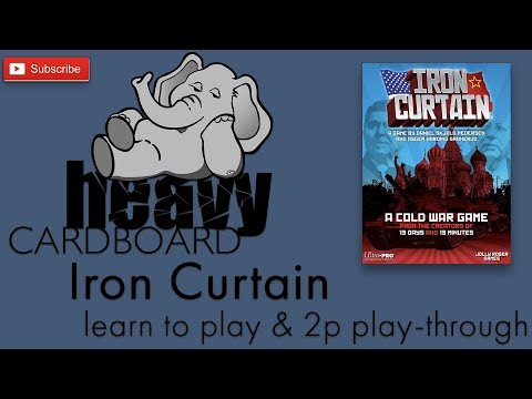 Iron Curtain Play-through, Teaching, & Roundtable discussion by Heavy Cardboard