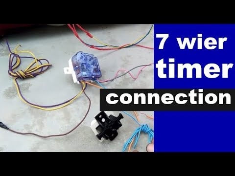 washing machine timer connection