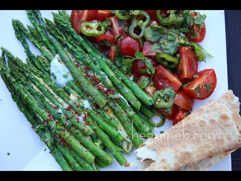 Asparagus and Eggs Appetizer Recipe – Heghineh Cooking Show