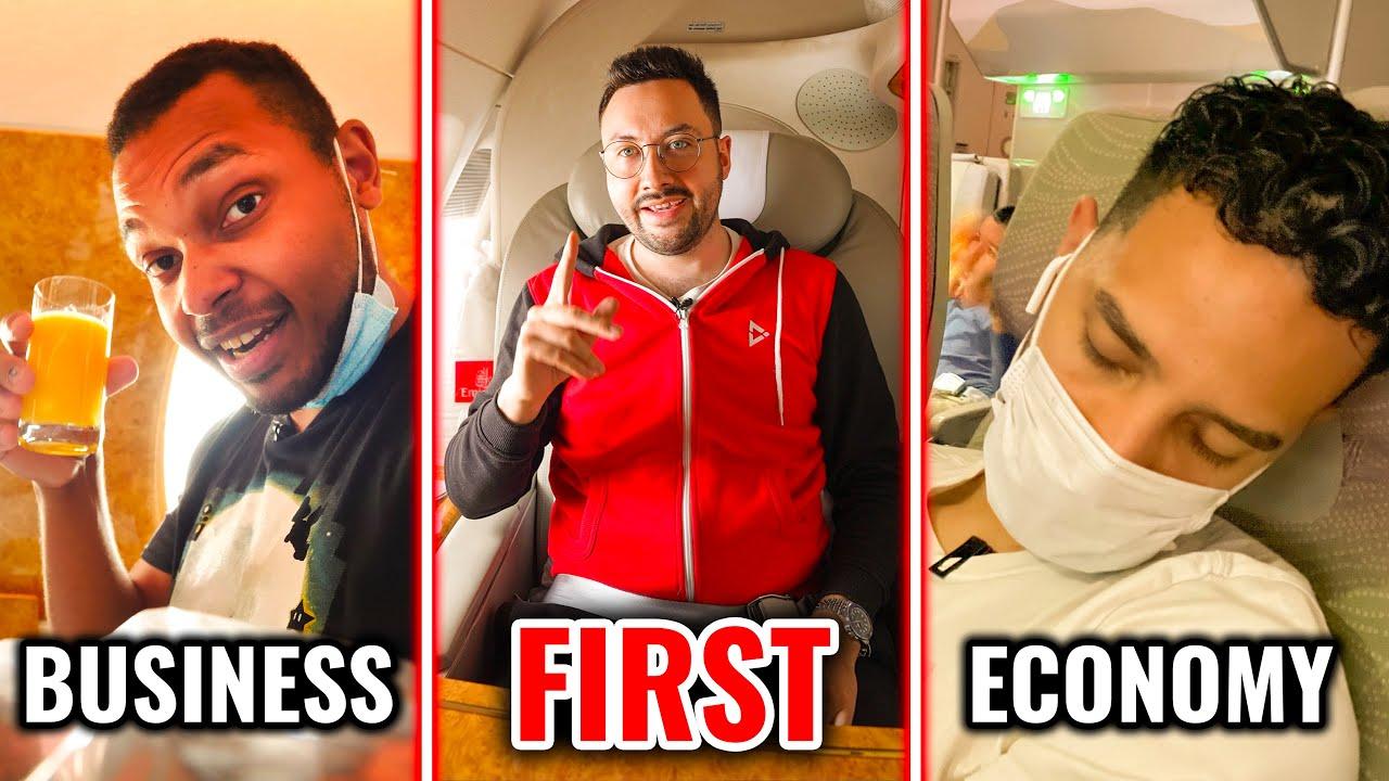 Vol Première Classe VS Business VS Economique : la Grosse Comparaison Emirates !