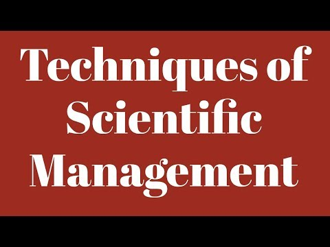 Techniques of Scientific Management- CBSE/NCERT Class XII Bussiness Studies, SYJC/HSC/Std 12th -OC
