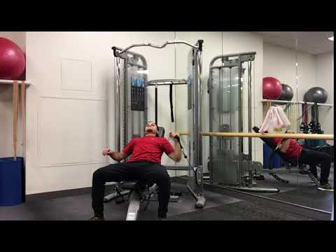 Cable Single Arm Incline Bench Press