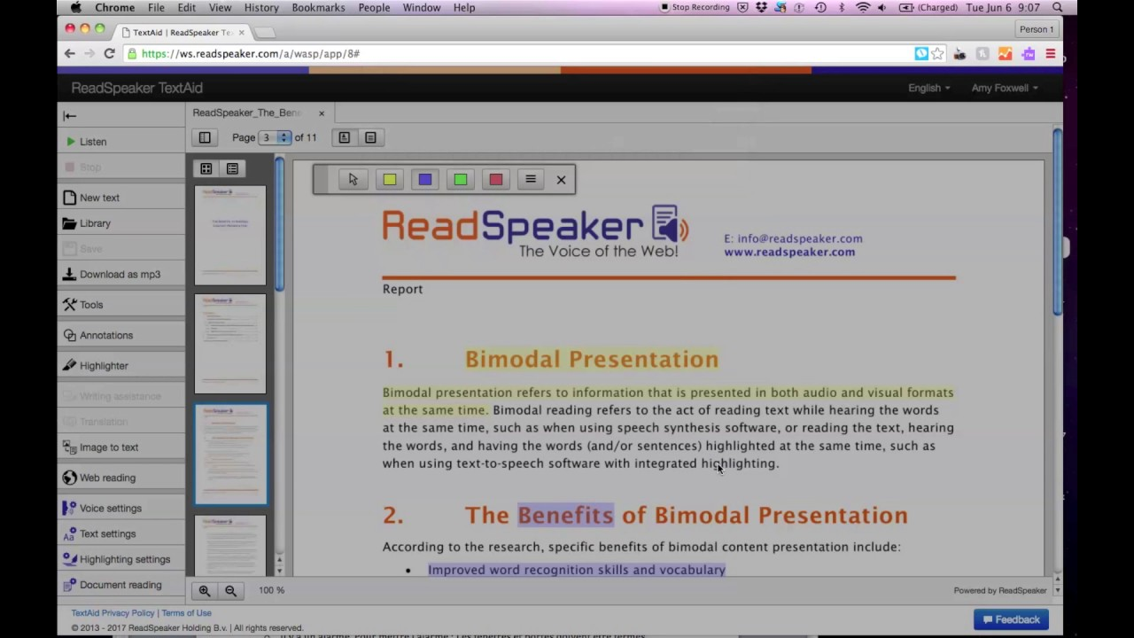 ReadSpeaker TextAid - Literacy Support