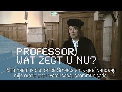 Professor wat zegt u nu? - de Volkskrant - Ionica Smeets