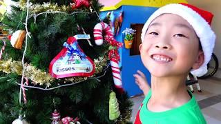 먹을수 있는 크리스마스 트리 만들기 예준이의 초콜릿 사탕 눈사람 집 꾸미기 Christmas Tree Decorating with Candy Chocolate