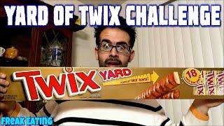 Twix Chocolate Yard Eating Challenge - 2 Pounds! | FreakEating vs the World