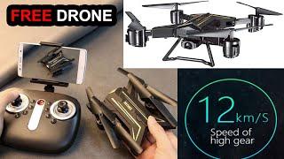 মাথা নষ্ট ১২ কিঃমি স্পীড !! Shark Drone Foldable With Camera WiFi FPV Live Drone Camera Black Drone
