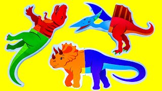 Find the body of a dinosaur. Dinosaurs Puzzle for Kids - Learn Jurassic world Dinosaurs Names.