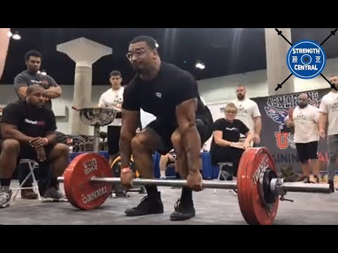 Larry Wheels First Strongman Competition - Axle Deadlift (Event 6/8)