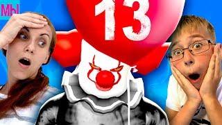 Пятница 13 Страшный клоун ОНО против Мы играем Челлендж на выживание Мама превратилась в клоуна ШОК!