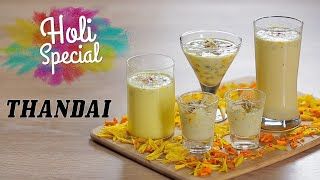 Holi Special Thandai | Traditional Thandai Recipe | Indian Milkshake Recipe | Live Cook Along