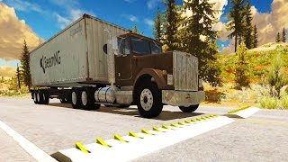 High Speed Spike Strip Crashes + Police Roadblock - BeamNG Drive Crash Compilation Gameplay