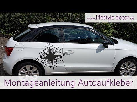 Autoaufkleber richtig ohne Blasen anbringen - Anleitung