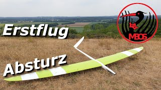 RC Fail: Erstflug und Absturz vom Virus (Aero Sport Becker) / Segelflug Windberg e.V.