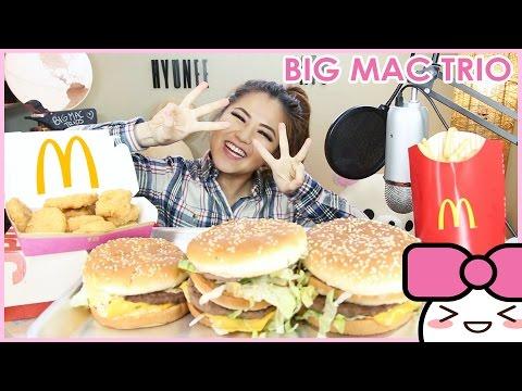MCDONALD'S MAC JR + BIG MAC + GRAND MAC!! MUKBANG [먹방]   CONFESSIONS