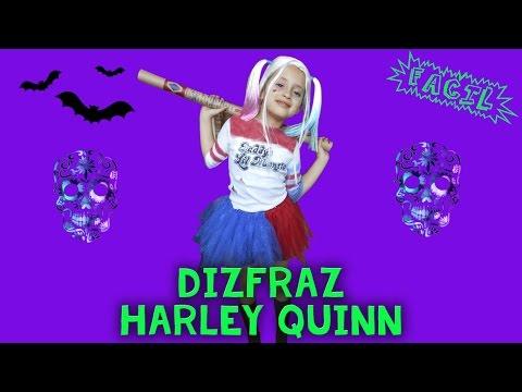 Disfraz de Harley Quinn para niña Fácil / Suicide Squad / Disfraz halloween