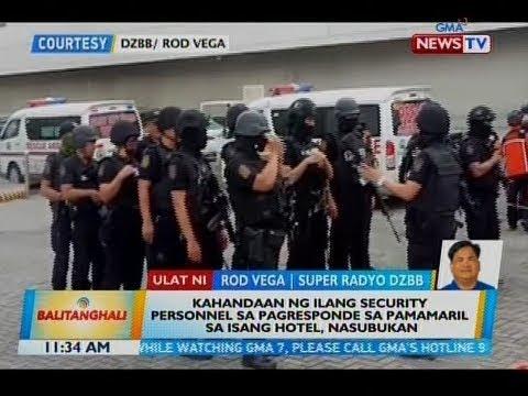 [GMA]  BT: Kahandaan ng ilang security personnel sa pagresponde sa pamamaril sa isang hotel, nasubukan