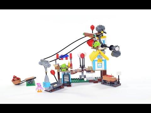Vidéo LEGO Angry Birds 75824 : La démolition de cochon ville