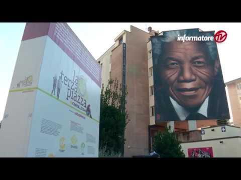 Nelson, il murale dedicato a Mandela. L