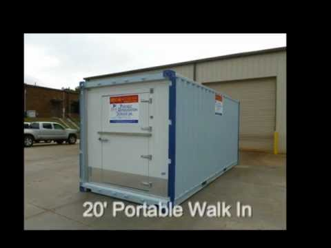 Portable Walk In Coolers & Freezers 20x8 Ground Level Walk-In Freezer