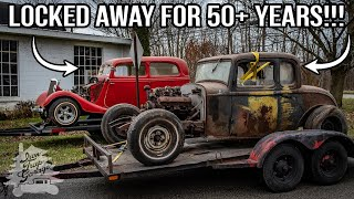 Forgotten Hot Rods Found After 50 Years - 1932 Ford & 1934 Ford