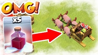 NEW UPDATE ALL SANTA SURPRISE SPELLS  CLASH OF CLANS CHRISTMAS UPDATE 2016