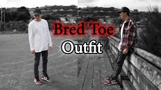 finest selection d2fe9 c1027 JORDAN 1 BRED TOE ON FOOT - Free video search site ...
