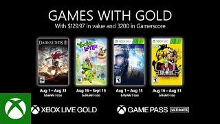 Games With Gold di agosto 2021