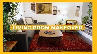 Extreme Living Room Makeover | Mid Century Modern Style W Thrifted & Vintage Home Decor | Tiny Acorn